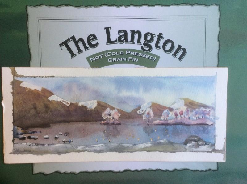 Candyfloss landscape original watercolour painting