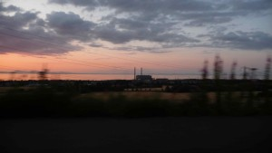 Cockenzie PowerStation Demolition November 2015 Sunset