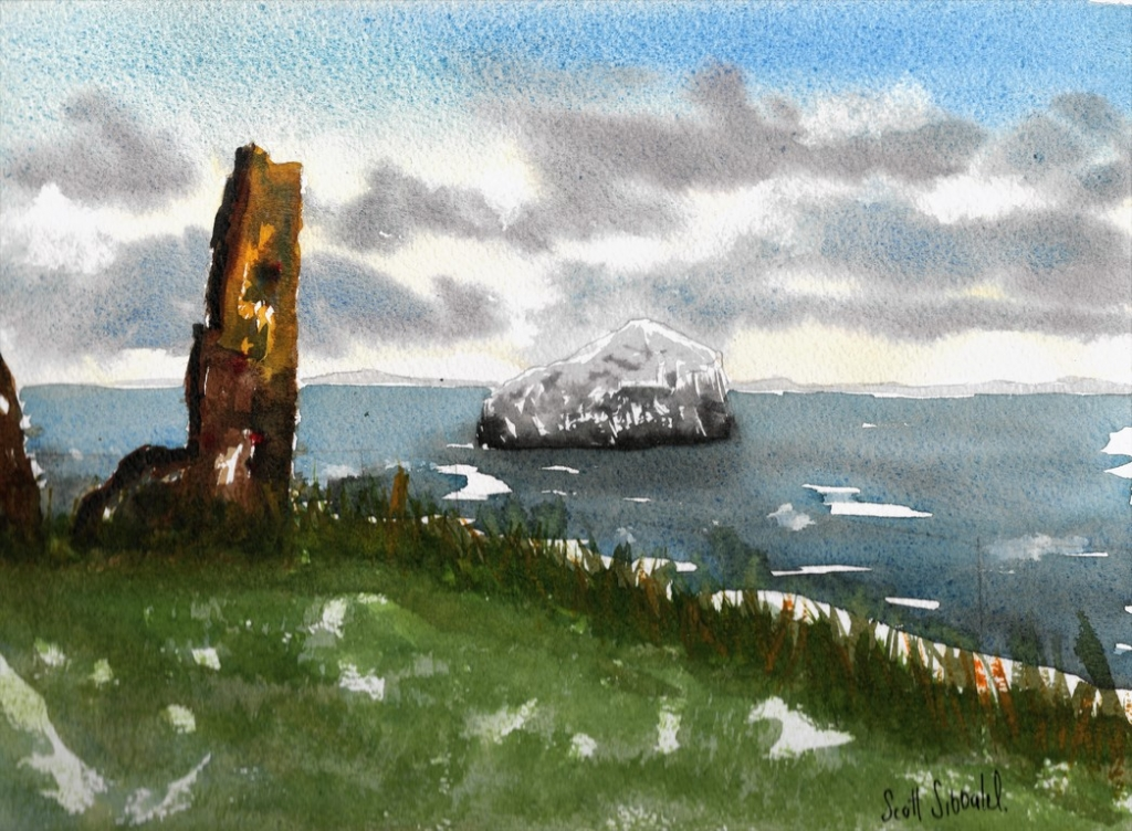 Bass Rock from Tantallon catle 033618-121918 Publish
