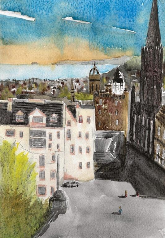 Ramsay Gardens and Castle Esplinade WColour 525418-122018 Publish